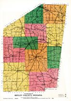 County Outline, Ripley and Franklin Counties 1921